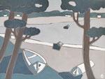 Lac d'Hossegor 6 Enduit acrylique sur toile 60x80cm 2019
