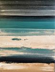 Bleus profonds 1 - Enduit acrylique sur toile - 60x80cm -  2020
