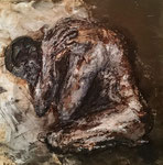 Homme replié  Acrylique sur toile 50x50cm 2016