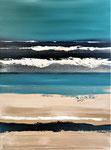 Bleus profonds 2 - Enduit acrylique sur toile - 60x80cm -  2020