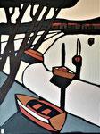 Cabanes à huitres - Enduit acrylique sur toile - 60x80cm -  2021