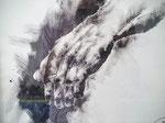 Main du géant Acrylique sec 25x35cm 2016