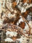 Liaisons intergalactiques  Acrylique sur toile 70x90cm 2016
