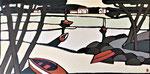Aux chênes lièges - Enduit acrylique sur toile - 100x50cm -  2021