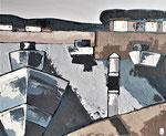 Port maritime Enduit acrylique sur toile 61x50cm 2020