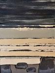 Gris bleu et sable acrylique sur toile 60x80cm 2020