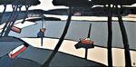 Cabanes huitrières - Enduit acrylique sur toile - 100x50cm -  2021