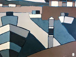 Port de Capbreton 4  Enduit acrylique sur toile 37X46cm 2019