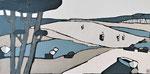 Grande rêverie océane Enduit acrylique sur toile 40x80cm 2019