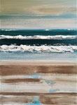 Bleu et sable 3 Enduit acrylique sur toile 60X80cm 2020