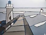 Sortie de port de Capbreton 4 Enduit acrylique sur toile 60X80cm 2019