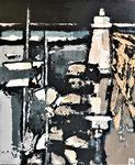 Phare de Capbreton - Enduit acrylique sur toile - 46,5x55,5cm -  2021