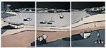 Ambiance Lacustre 1 Enduit acrylique sur toile Tryptique 3x50x60cm 2019