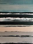 Bleu et sable 2 Enduit acrylique sur toile 60X80cm 2020