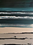 Bleu et sable Enduit acrylique sur toile 60X80cm 2020