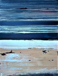 Océan flamboyant 1 Enduit acrylique sur toile cm 2019