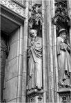 Goethe als Evangelist Lukas an der Westfassade der Lambertikirche
