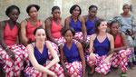 Les danseuses de la Troupe du District de Bamako