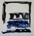 tinta china, lápices grises y acuarela s/papel Arches. 2013.