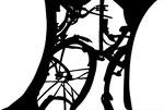 Martina Lückener  Radwerk  46x70 cm Papierschnitt 2001