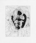 Martina Lückener Selbstbildnis 2 Radierung 45x37cm 2000