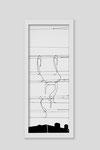 Martina Lückener  Linien 3  2014 80x30cm Zeichnung