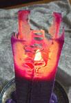 Kristall-Gitter von der langen viereckigen Kerze