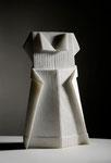 vestito origami, marmo statuario Carrara