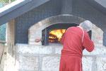 ピザを焼くお施主様