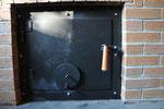 副燃焼室の扉も、高橋政行さんの作品です。