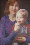 Mutter und Sohn, 60 x 40 cm, Acryl auf Leinwand (Auftragsarbeit)