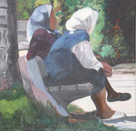rest, Acryl auf Leinwand (verkauft)