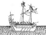 Modèle des navires en usage à Canton. Ils sont plus grands que ceux du Fou-kien : ils sont aussi plus forts, parce qu'on les construit avec du bois de fer, au lieu que ceux du Fou-kien  sont construits avec du bois de pins, de sapins, ou autre semblable.