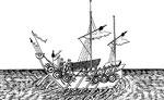 Bâtiment à huit rames. Il n'est d'usage à la guerre que pour porter promptement des nouvelles ou des ordres, ou aller à la découverte. On en trouve encore aujourd'hui au Fou-kien, au Tché-kieng, & à Canton.