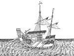 Bâtiment nommé kiao-tchouen-ché ; c'est-à-dire, barque qui a la solidité d'un pont. Sa construction est à peu près la même que celle des barques dites tsan-chan-tchouen ; il est un peu plus gros : il a deux voiles, & est d'un très bon usage à la guerre.