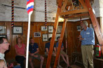 A Tower Tour party being shown the demonstration bell