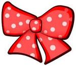 Polka dotted ribbon