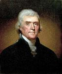 Thomas Jefferson .- 13 de abril de 1743 — 4 de julio de 1826 -.