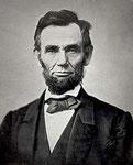 Abraham Lincoln .-12 de febrero de 1809 – 15 de abril de 1865 -.