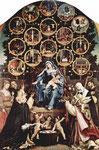 Lorenzo Lotto, Madonna del Rosario, 1539; Cingoli (Wurf von Rosenblättern u.)