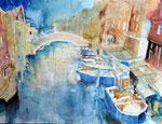 Venedig Murano, 30x40cm, Aquarell, Hahnemühle 450g, Werk: 20110121