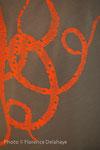 Tabliers, série limitée, pièces uniques, Florinda Donga Hauser pour le tablier, Alice Leblanc-Laroche pour les motifs et la sérigraphie artisanale.