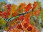 Herbstwald 2016 Acryl auf Papier 40 x 28 cm 20.00