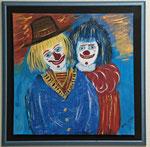 Clowns 2012 Acryl auf Leinwand