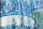 Eisweiher, Aquarell auf Papier 30 x 23 cm 20.00