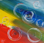 Seifenblasen 2 2016 Acryl auf leinwand 40 x 40 cm 30.00