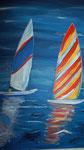 Segelboote 2010 Acryl auf Leinwand
