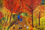 Herbstspaziergang 2016 Acryl auf Leinwand 70 x 50 cm (verkauft)