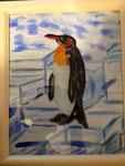 Eiszeit 2014 Acryl auf Papier und Acryl auf Glas