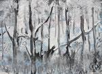 Winterwald Acryl auf Papier 30 x 21 cm 20.00